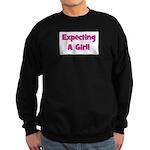 Expecting A Girl! Sweatshirt (dark)