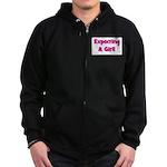 Expecting A Girl! Zip Hoodie (dark)