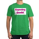 Expecting Quads! Men's Fitted T-Shirt (dark)