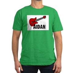 Guitar - Aidan Men's Fitted T-Shirt (dark)
