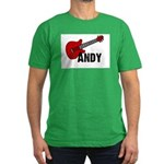 Guitar - Andy Men's Fitted T-Shirt (dark)