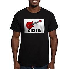 Guitar - Austin Men's Fitted T-Shirt (dark)
