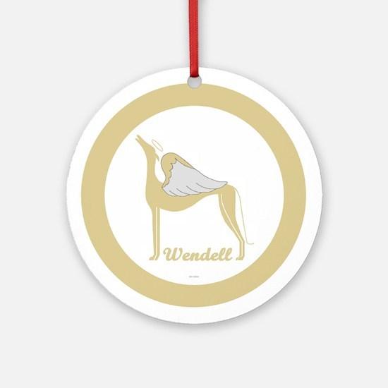 WENDELL ANGEL GREY ROUND ORNAMENT