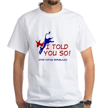 Stop Voting Republican White T-Shirt