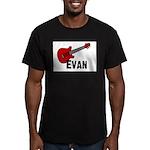 Guitar - Evan Men's Fitted T-Shirt (dark)