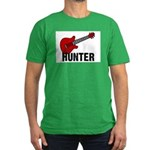 Guitar - Hunter Men's Fitted T-Shirt (dark)