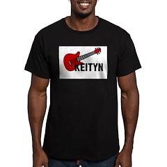 Guitar - Keityn Men's Fitted T-Shirt (dark)