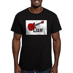 Guitar - Liam Men's Fitted T-Shirt (dark)