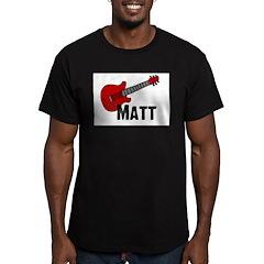 Guitar - Matt Men's Fitted T-Shirt (dark)