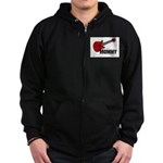 Guitar - Mommy Zip Hoodie (dark)