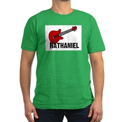 Guitar - Nathaniel Men's Fitted T-Shirt (dark)