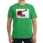 Guitar - Rob Men's Fitted T-Shirt (dark)