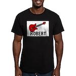 Guitar - Robert Men's Fitted T-Shirt (dark)