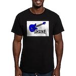 Guitar - Shane - Blue Men's Fitted T-Shirt (dark)