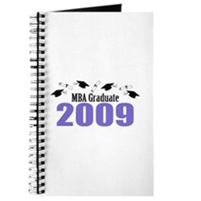 MBA Graduate 2009 (Purple Caps And Diplomas) Journ