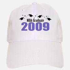 MBA Graduate 2009 (Purple Baseball Baseball Caps And Diplomas) Baseball Baseball Cap