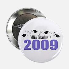 "MBA Graduate 2009 (Purple Caps And Diplomas) 2.25"""