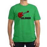 Guitar - Solomon Men's Fitted T-Shirt (dark)