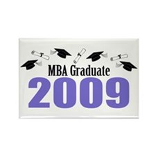 MBA Graduate 2009 (Purple Caps And Diplomas) Recta