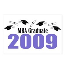 MBA Graduate 2009 (Purple Caps And Diplomas) Postc