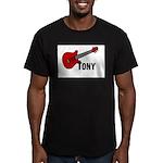 Guitar - Tony Men's Fitted T-Shirt (dark)