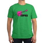 Sophia - Guitar - Pink Men's Fitted T-Shirt (dark)