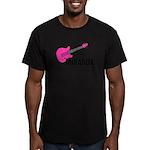 Guitar - Miranda - Pink Men's Fitted T-Shirt (dark