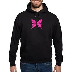 Pink Butterfly Hoodie