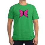 Pink Butterfly Men's Fitted T-Shirt (dark)