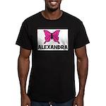 Butterfly - Alexandra Men's Fitted T-Shirt (dark)