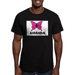 Butterfly - Amanda Men's Fitted T-Shirt (dark)