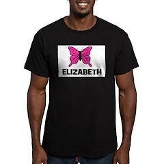 Butterfly - Elizabeth Men's Fitted T-Shirt (dark)