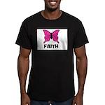 Butterfly - Faith Men's Fitted T-Shirt (dark)