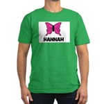 Butterfly - Hannah Men's Fitted T-Shirt (dark)