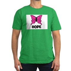 Butterfly - Hope Men's Fitted T-Shirt (dark)
