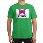 Butterfly - Sydney Men's Fitted T-Shirt (dark)