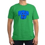 Puppy Dog Design (Dogs Blue) Men's Fitted T-Shirt