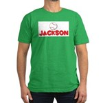 Jackson Baseball Men's Fitted T-Shirt (dark)