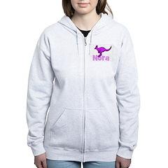 Nora (Lavendar) - Kangaroo Zip Hoodie