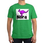 Nora - Kangaroo Men's Fitted T-Shirt (dark)
