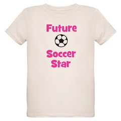 Future Soccer Star (pink) Organic Kids T-Shirt