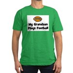 My Grandson Plays Football Men's Fitted T-Shirt (d