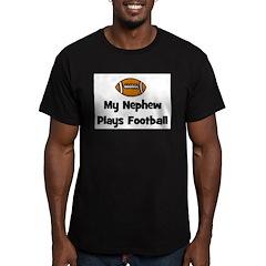 My Nephew Plays Football Men's Fitted T-Shirt (dar