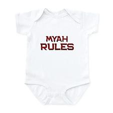myah rules Infant Bodysuit