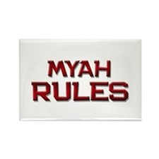 myah rules Rectangle Magnet