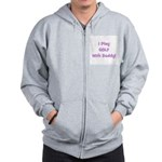 I Play Golf With Daddy (purpl Zip Hoodie