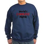 World's Coolest Papa! Sweatshirt (dark)
