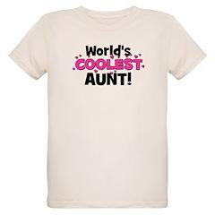 World's Coolest Aunt! Organic Kids T-Shirt