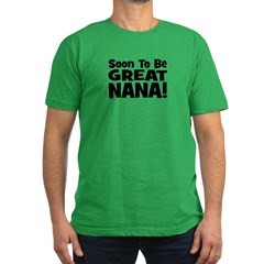 Soon To Be Great Nana! Men's Fitted T-Shirt (dark)