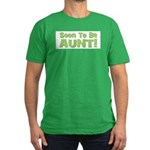Soon To Be Aunt! Green Men's Fitted T-Shirt (dark)